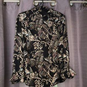 NWT- printed blouse